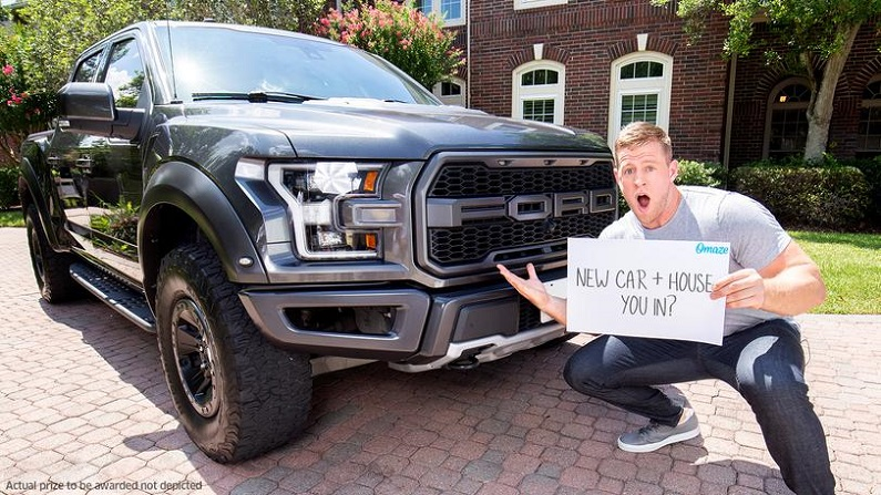 Houston Texans Star J.J. Watt Wants to Give You a Free Pickup Truck and $100,000