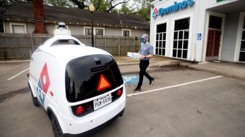 Domino's automated pizza delivery vehicle